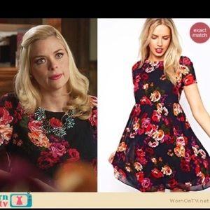 ASOS Floral Sheer Flutter Mini Babydoll Dress
